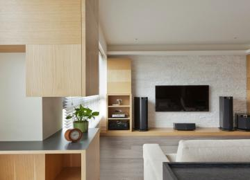 Sleek And Stylish Wooden Cabinets With Minimalist Form